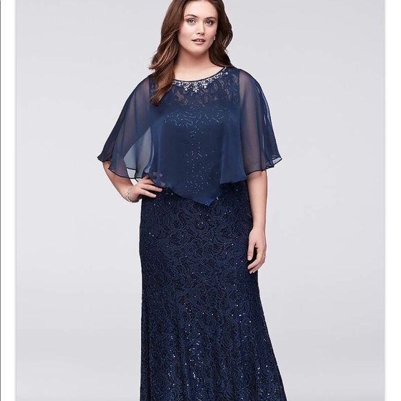 Womens plus size dress blue.